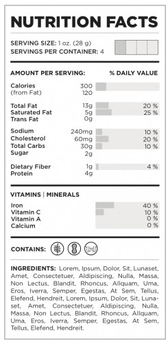Franklin Gaw- Nutrition Facts Redesigned
