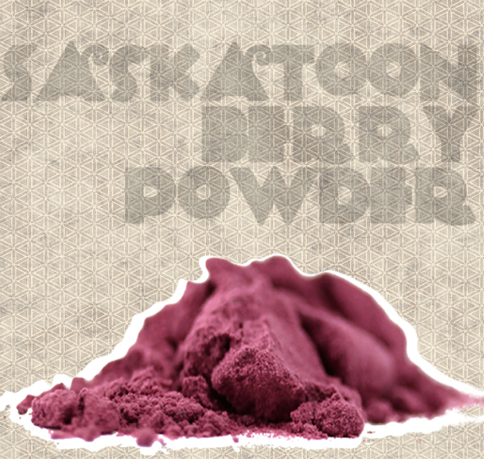 Illustration of saskatoon berry powder by Richard Koci Hernandez