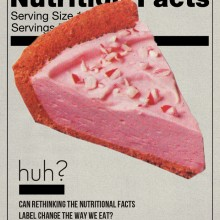 Illustration of a nutritional facts label and confusion by Lily Mihalik